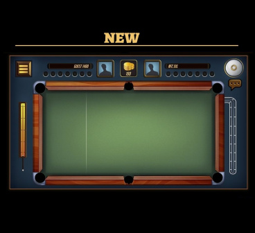 Creation of pool game graphics